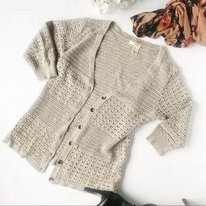 3/$20 DKNY Jeans Knit Crochet Cardigan